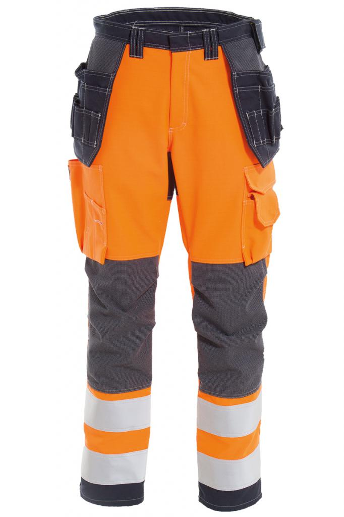 Vlamvertragende hi-vis dames werkbroek windbreaker