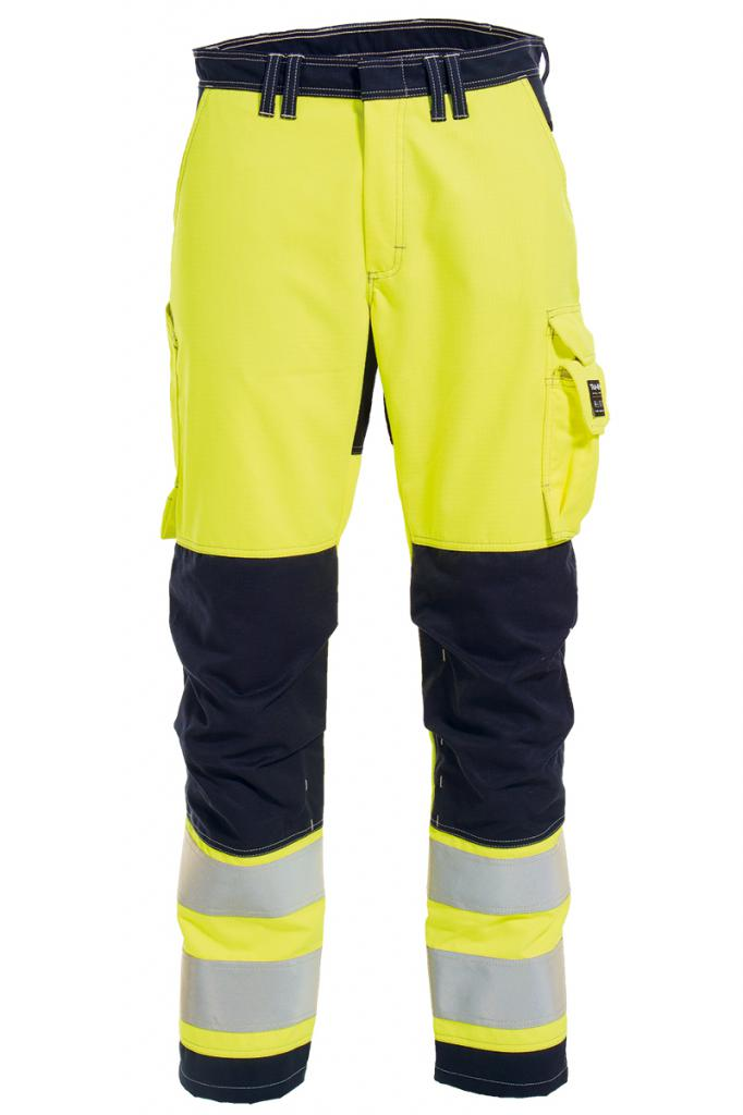 Vlamvertragende hi-vis dames werkbroek