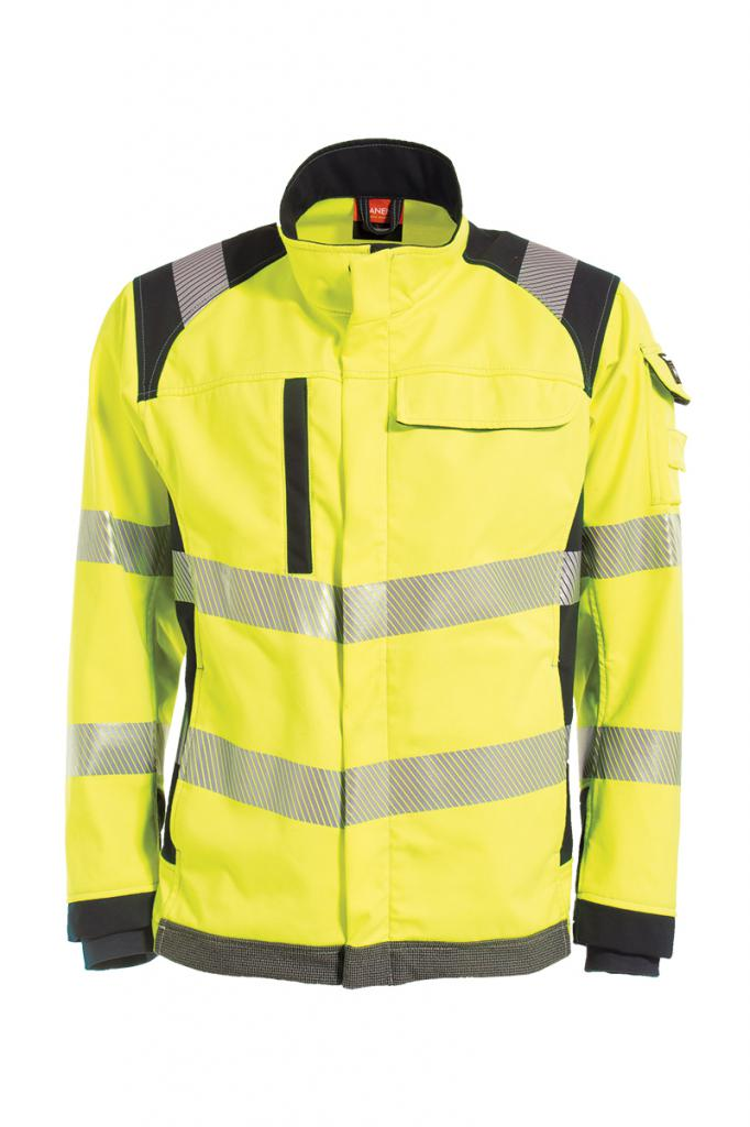 Vlamvertragende hi-vis softshell