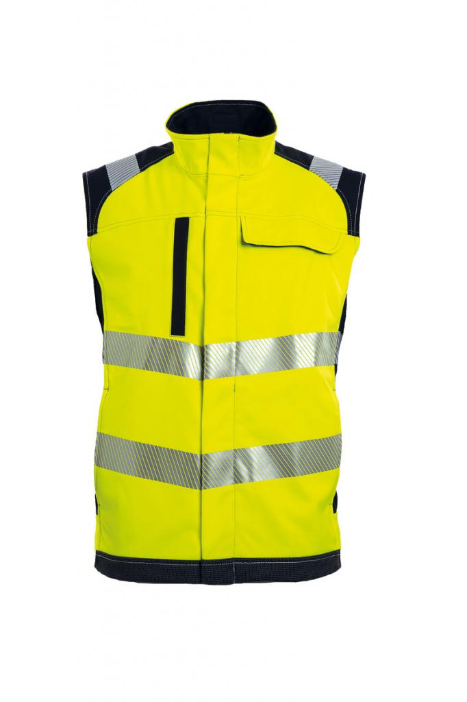 HI-VIS SOFTSHELL BODYWARMER STRETCH FR
